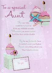 Special Aunt Birthday Greeting Card
