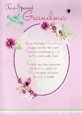 Special Grandma Birthday Greeting Card