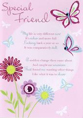 Thank You Special Friend Greeting Card