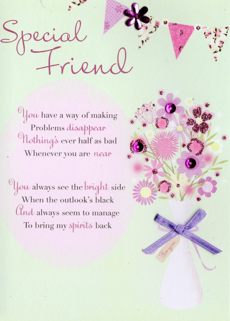 Sentinel Lovely Special Friend Greeting Card Second Nature Poetic Words Cards