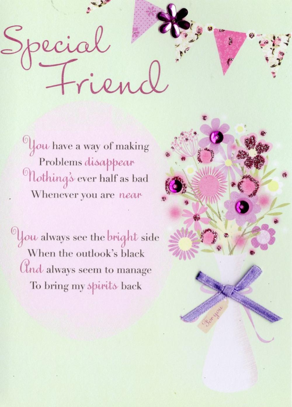 Lovely Special Friend Greeting Card Cards