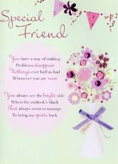 Lovely Special Friend Greeting Card
