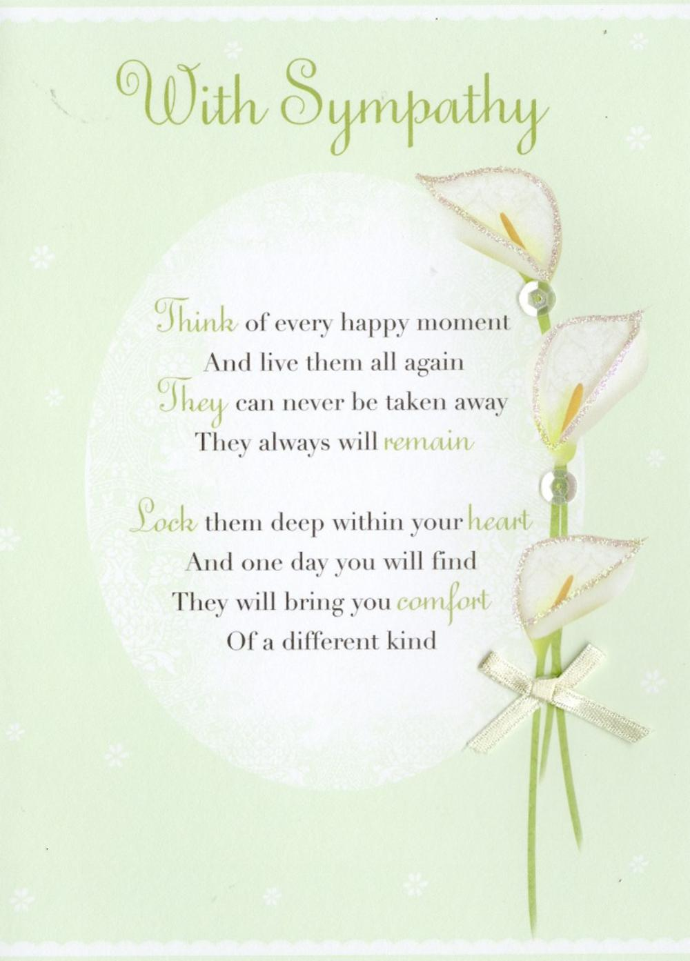 With Sympathy Greeting Card Cards Love Kates