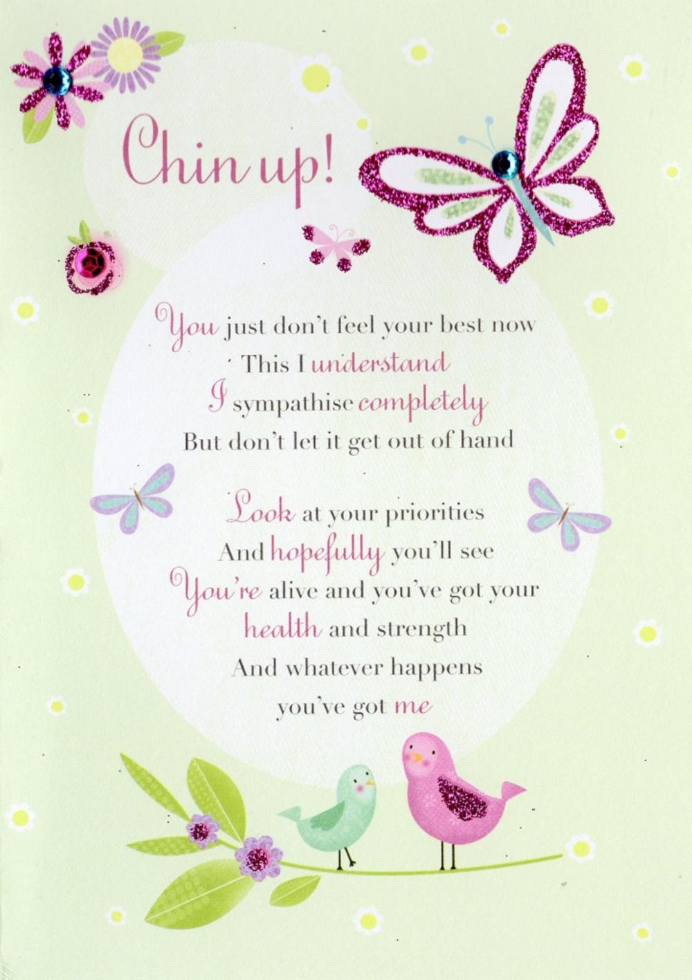Chin Up! Greeting Card Blank Inside