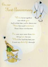 On Our First Anniversary Greeting Card