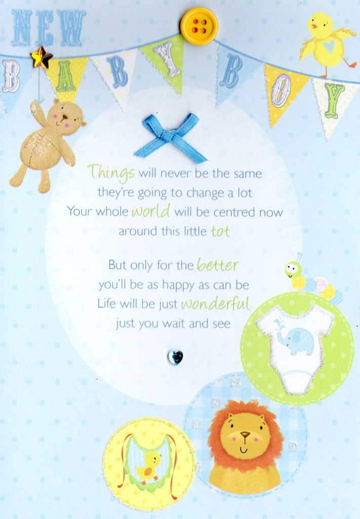 New Baby Boy Greeting Card Cards Love Kates