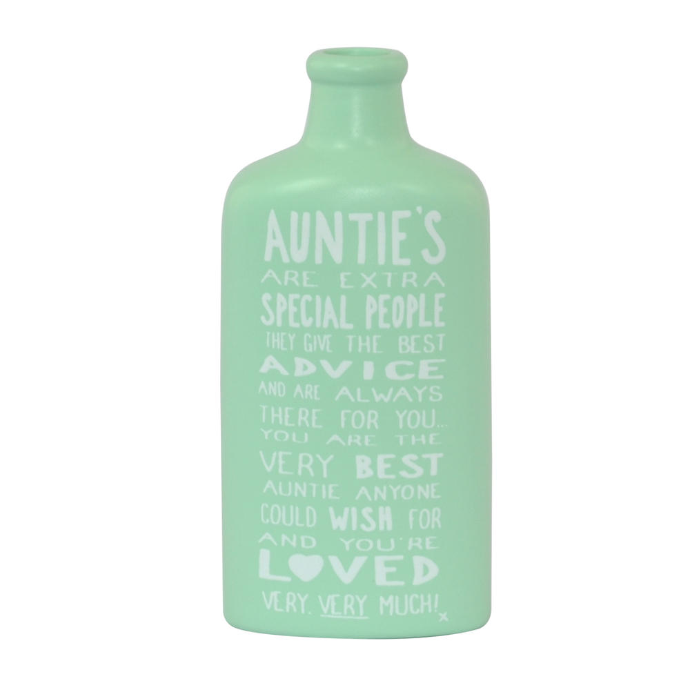 Special Auntie Message On A Bottle Gift