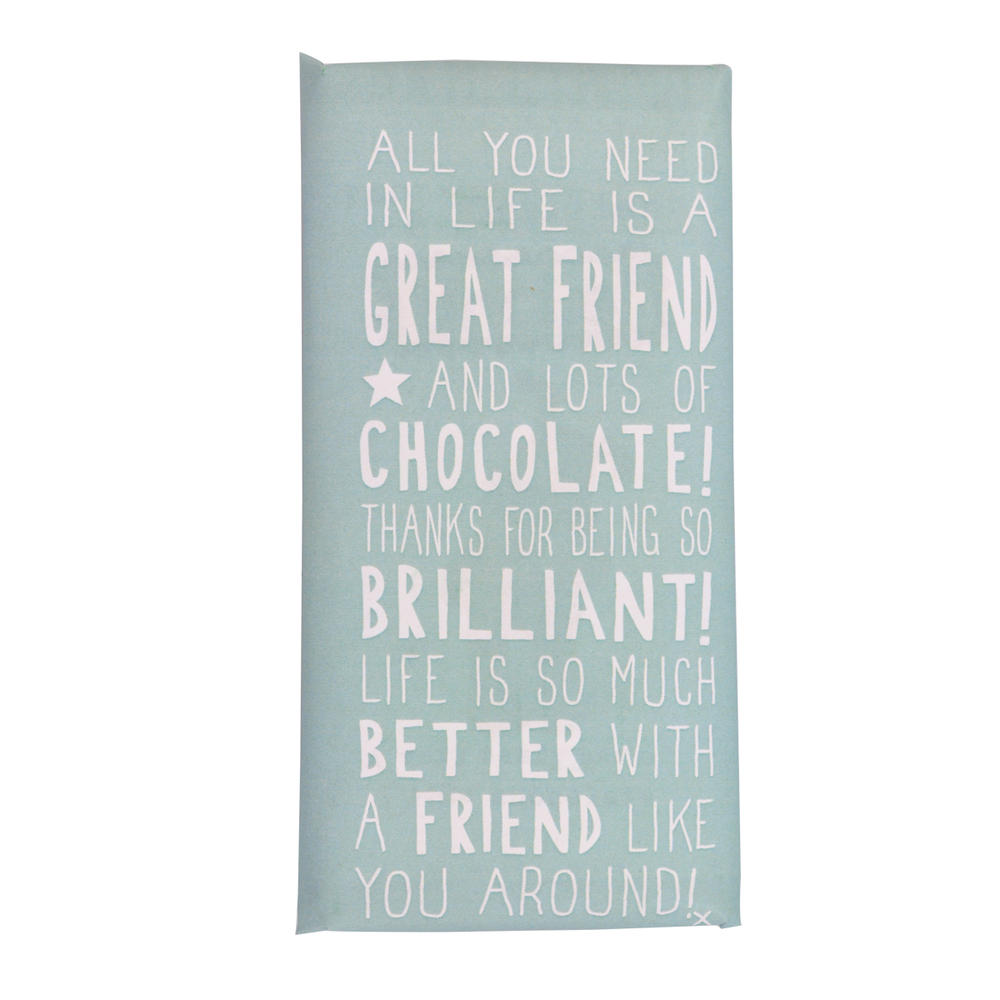 Great Friend Message On A Chocolate Bar