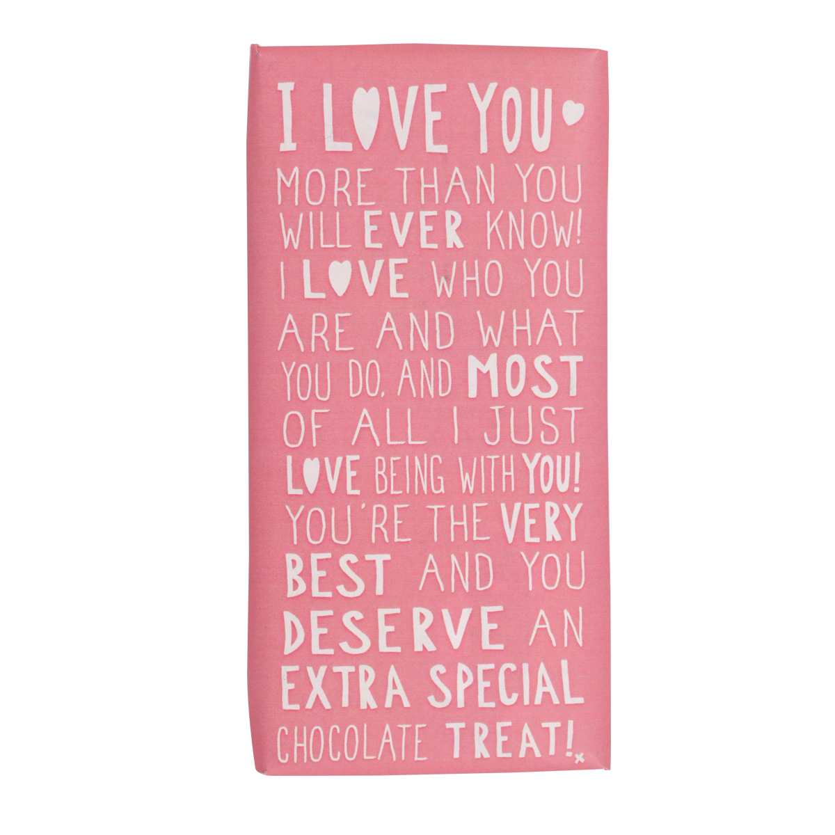 I Love You Message On A Chocolate Bar | Anniversary Gifts | Love Kates