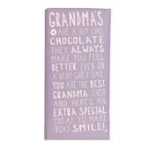Grandma's Treat Message On A Chocolate Bar