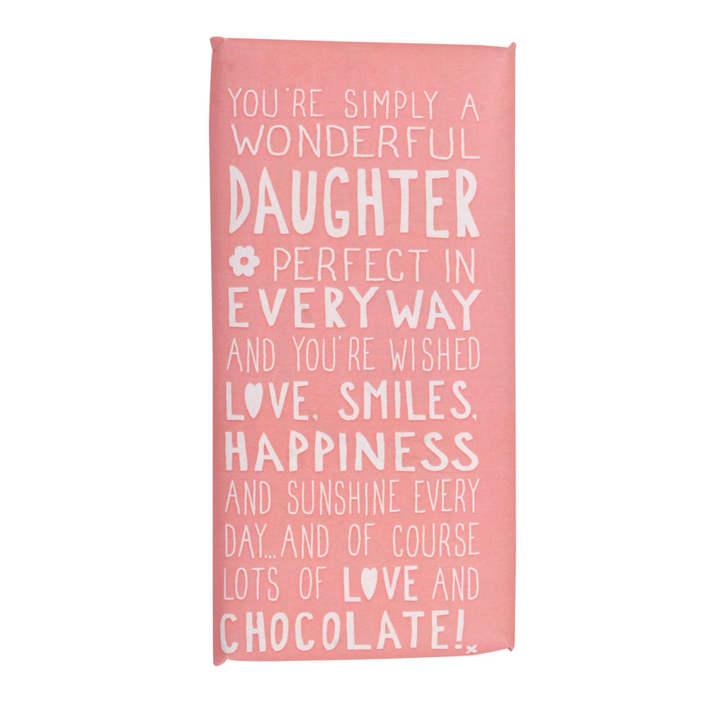 Wonderful Daughter Message On A Chocolate Bar