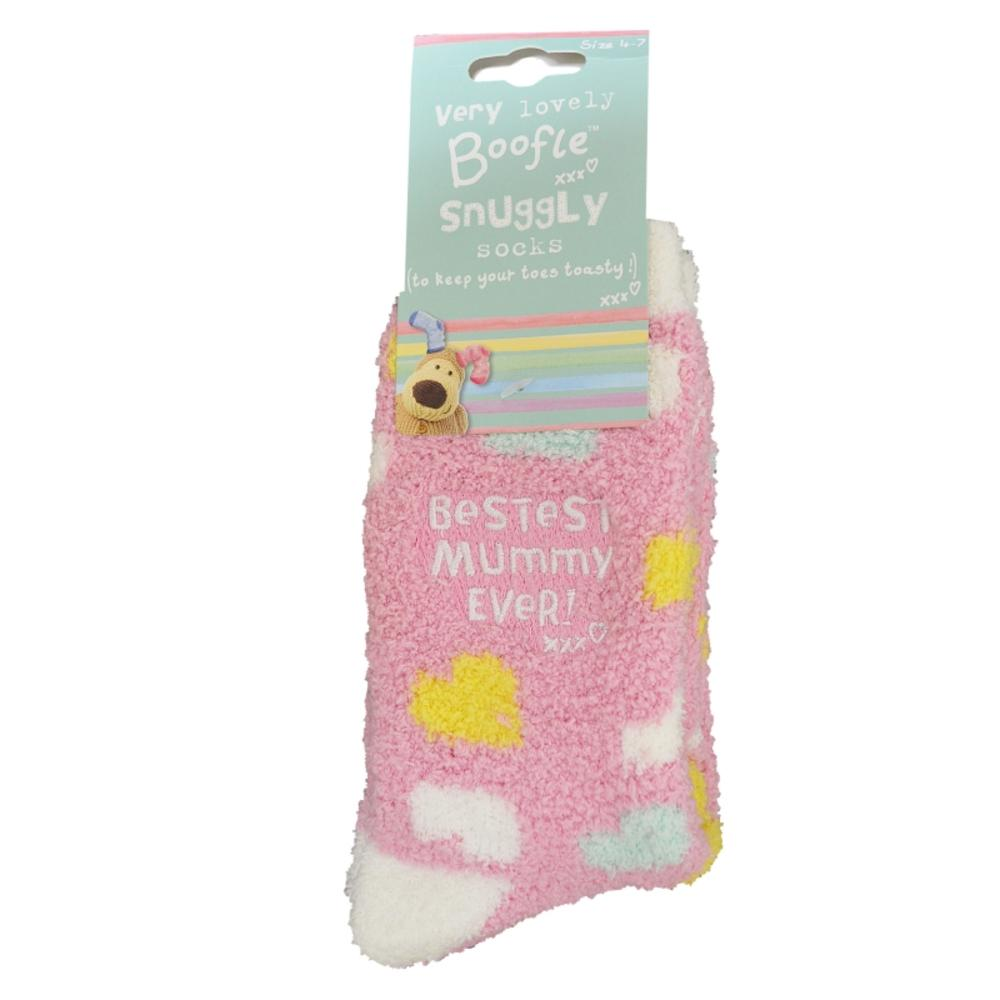 Boofle  Bestest Mummy Pair Fluffy Slipper Socks