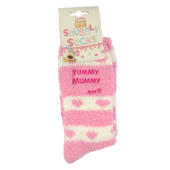 Boofle  Yummy Mummy Pair Fluffy Slipper Socks