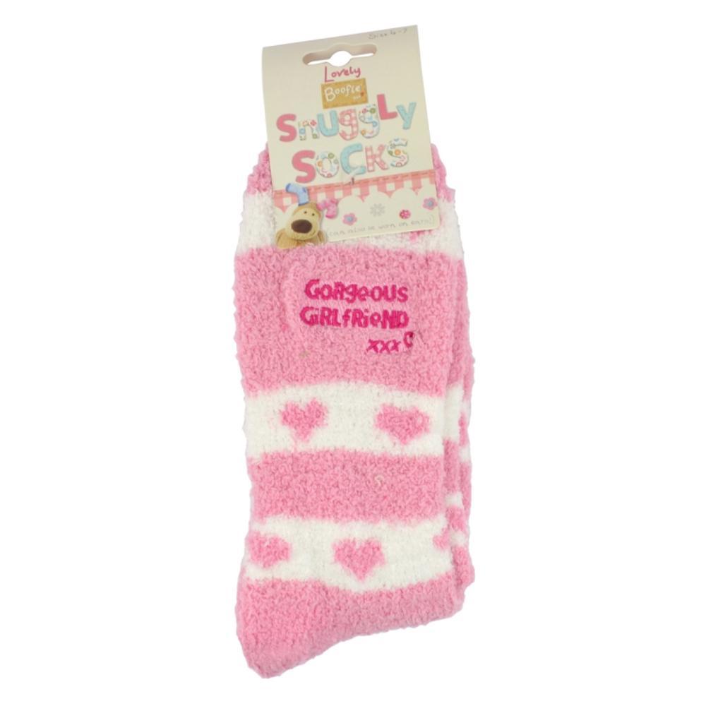 Boofle Gorgeous Girlfriend Pair Fluffy Slipper Socks