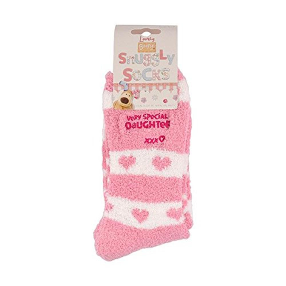 Boofle Special Daughter Pair Fluffy Slipper Socks