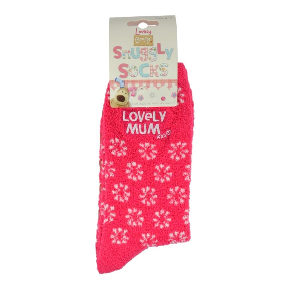 Boofle Lovely Mum Pair Fluffy Slipper Socks