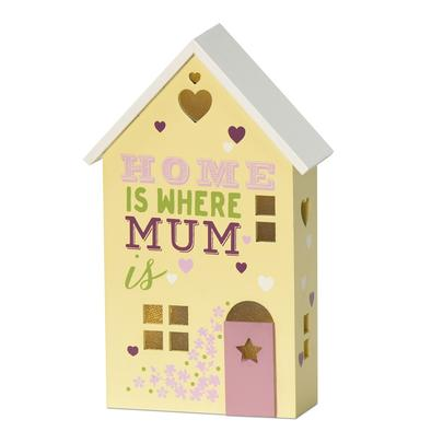 Home Is Where Your Mum Is Light Up House Gift