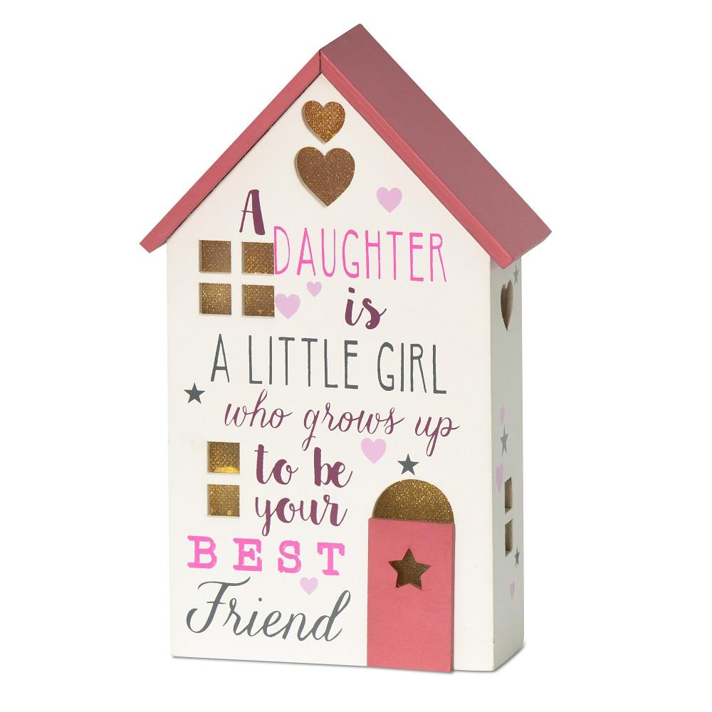 A Daughter Grows Up To Be Best Friend Light Up House Gift