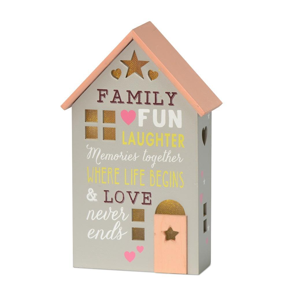Family Where Life Begins Light Up House Gift