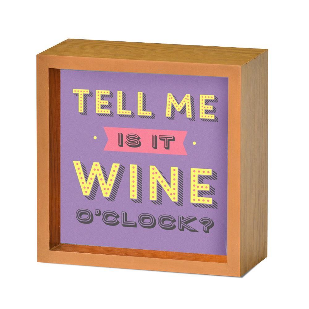 Is It Wine O'Clock Light Up Lightbox Gift Idea