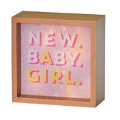 New Baby Girl Light Up Lightbox Gift Idea
