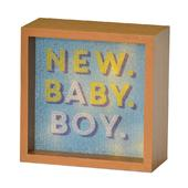 New Baby Boy Light Up Lightbox Gift Idea
