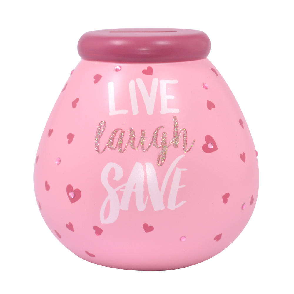 Live Laugh Save Pots of Dreams Money Pot