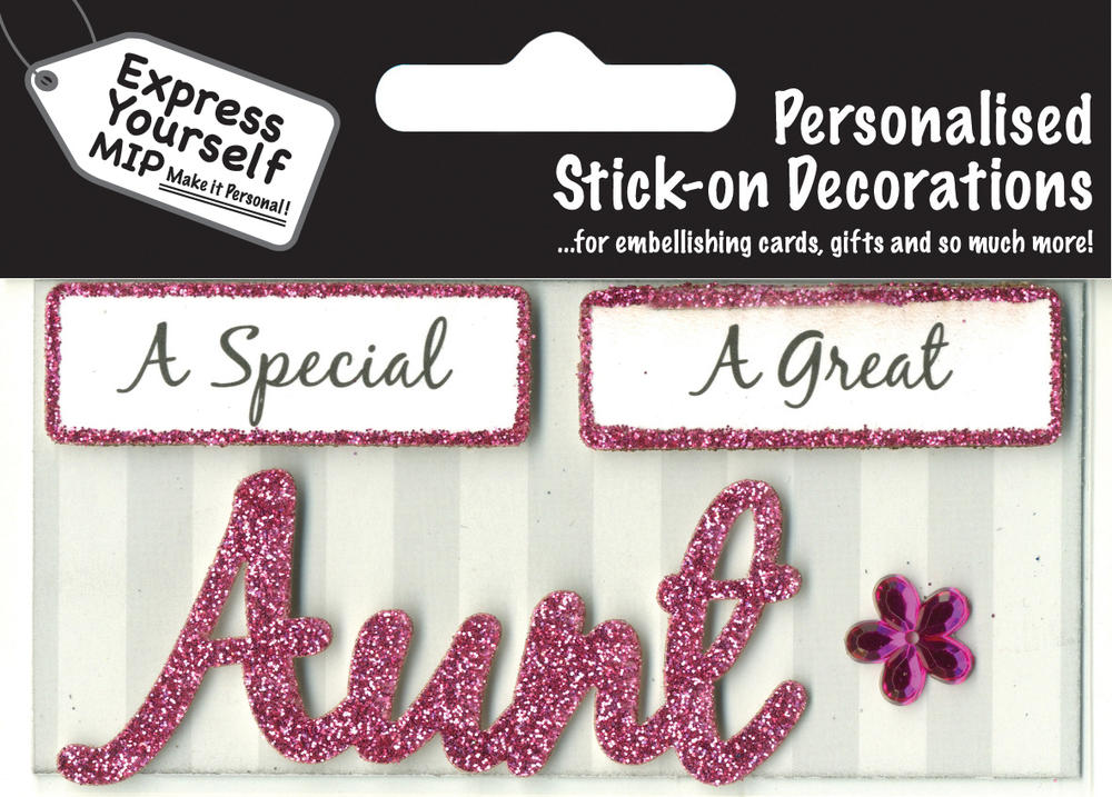 Pink Aunt DIY Greeting Card Toppers