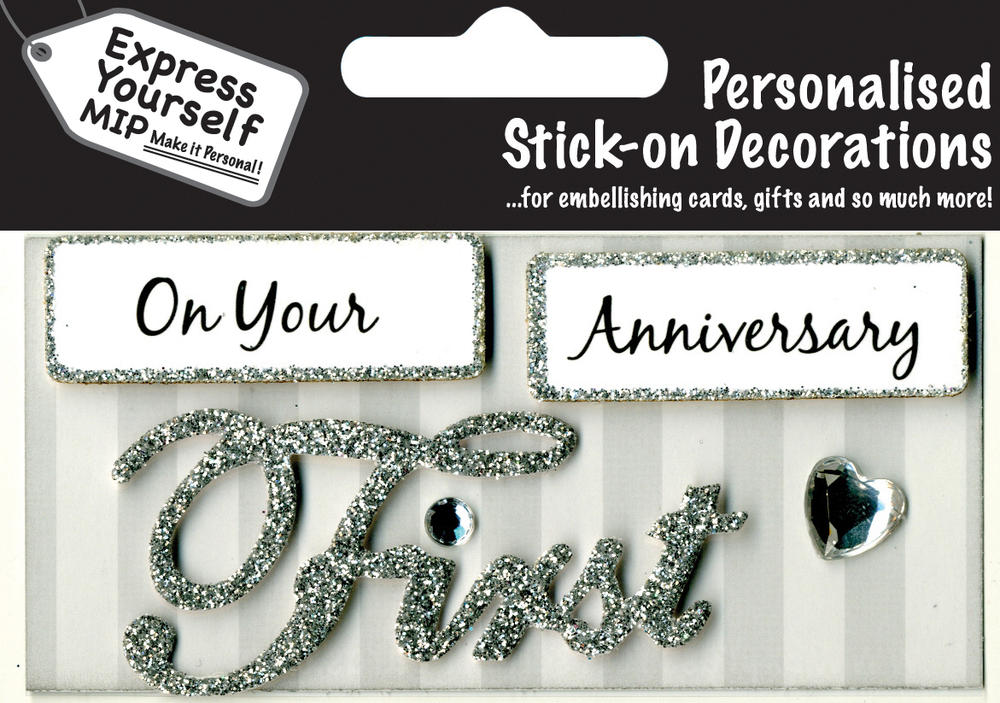 Silver On Your First Anniversary DIY Greeting Card Toppers