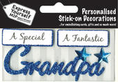 Blue Grandpa DIY Greeting Card Toppers