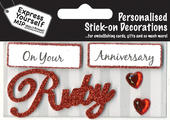 Ruby Anniversary DIY Greeting Card Toppers