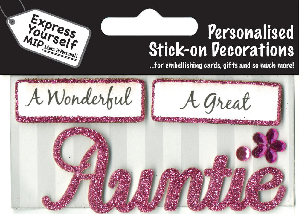 Pink Auntie DIY Greeting Card Toppers