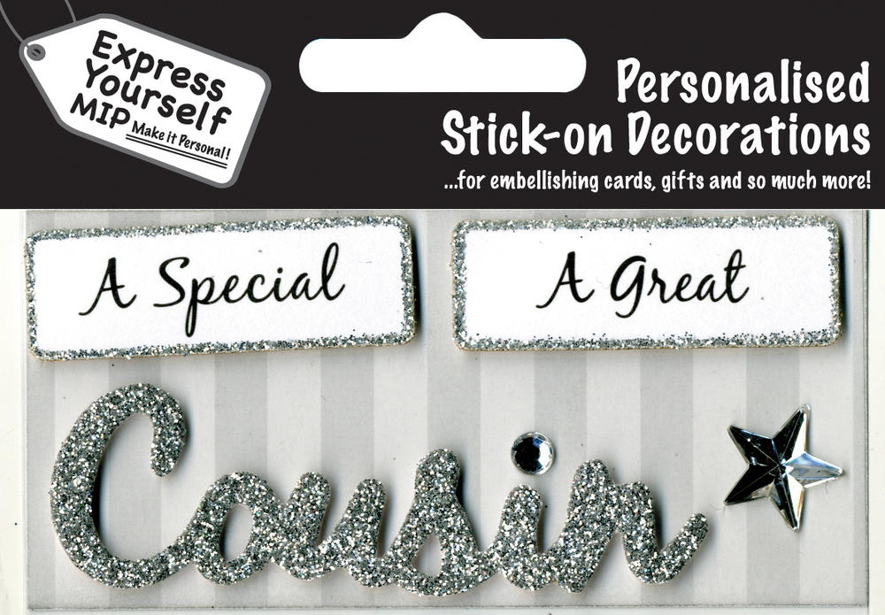 Silver Cousin DIY Greeting Card Toppers