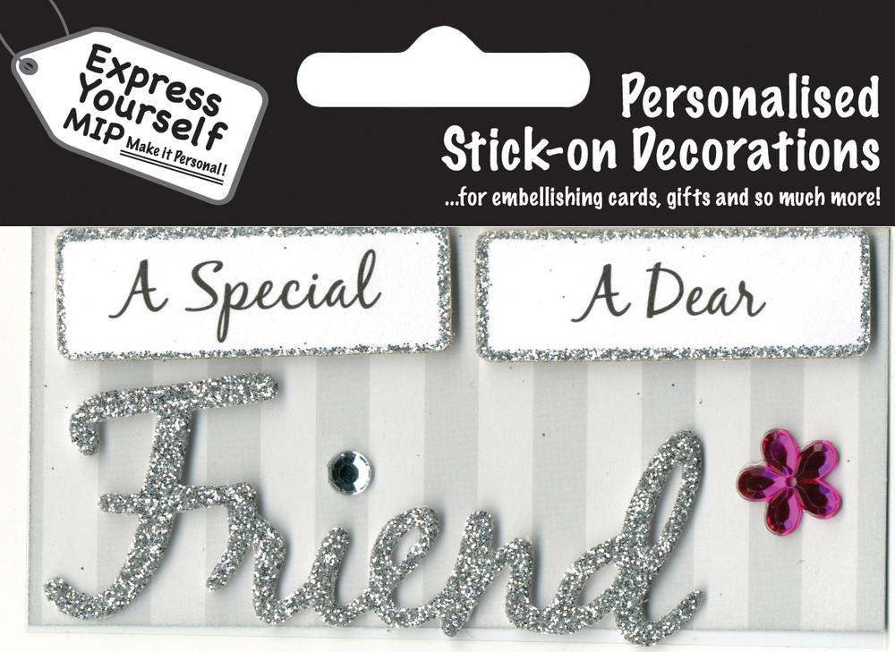 Silver Friend DIY Greeting Card Toppers