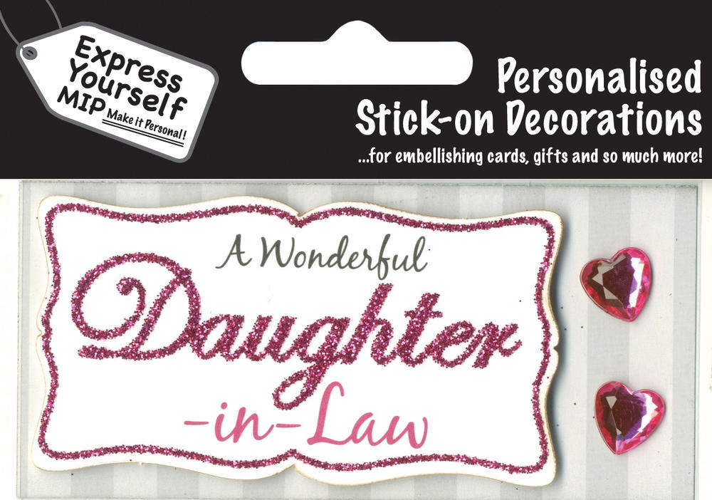 Pink Daughter-In-Law DIY Greeting Card Toppers