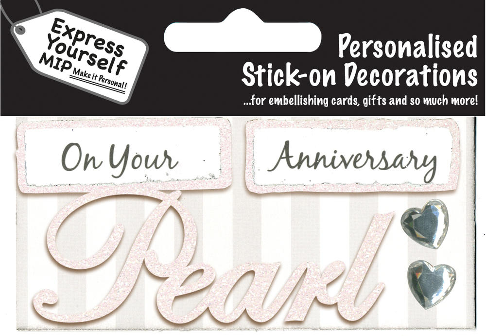Pearl Anniversary DIY Greeting Card Toppers