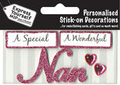 Pink Nan DIY Greeting Card Toppers