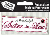 Pink Sister-In-Law DIY Greeting Card Toppers