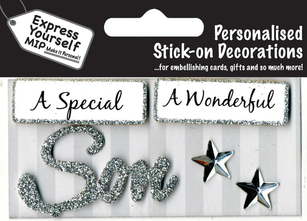 Silver Son DIY Greeting Card Toppers