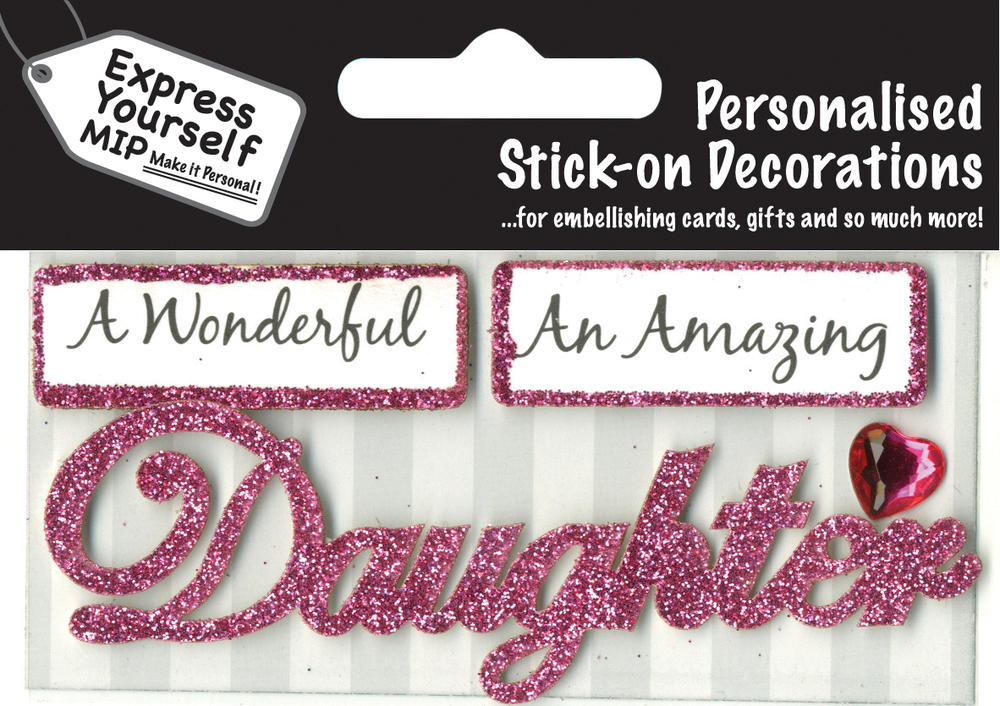 Pink Daughter DIY Greeting Card Toppers
