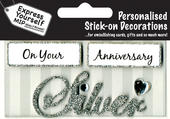 Silver Anniversary DIY Greeting Card Toppers