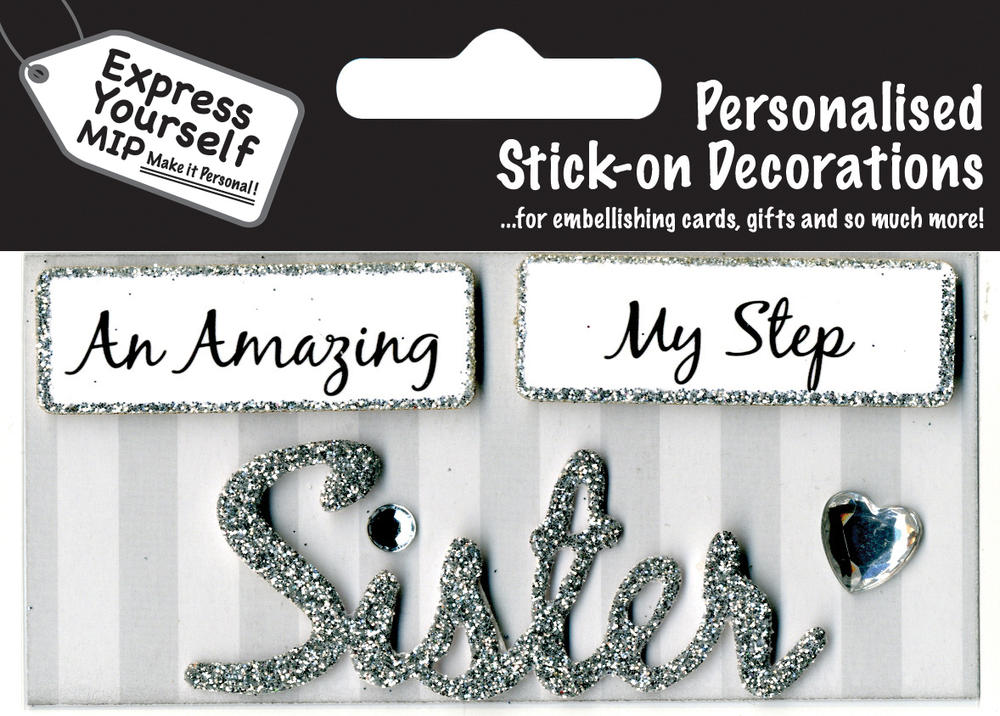 Silver Sister DIY Greeting Card Toppers