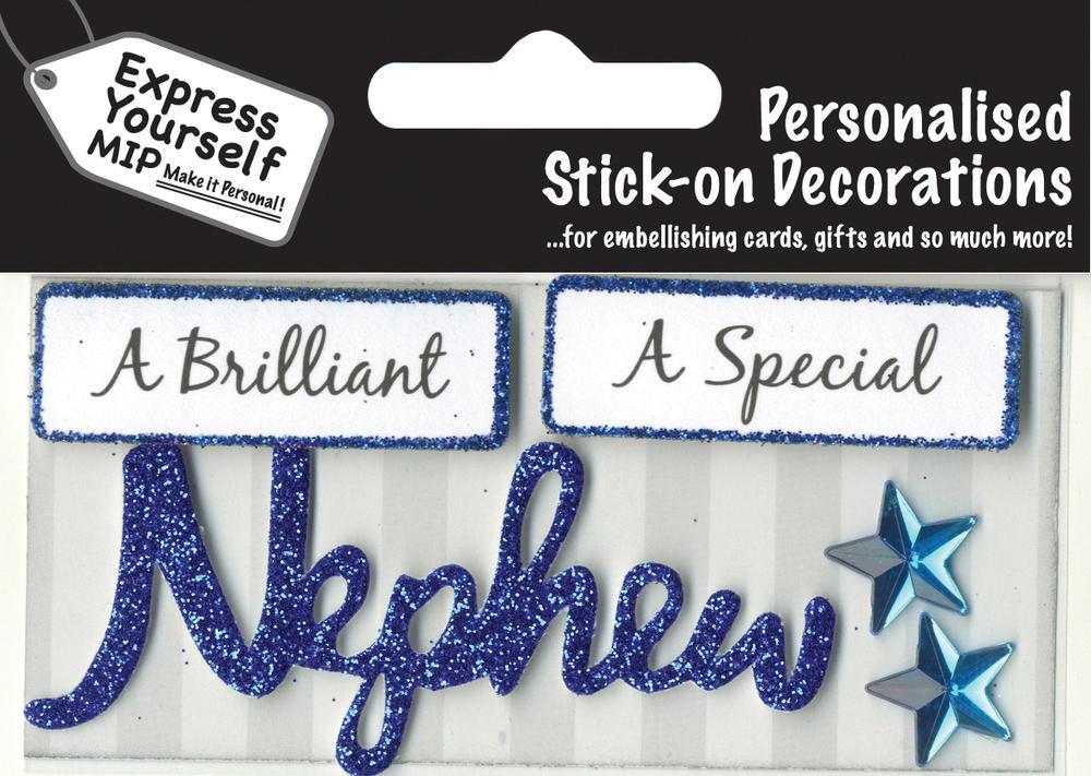 Blue Nephew DIY Greeting Card Toppers