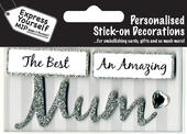 Silver Mum DIY Greeting Card Toppers