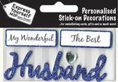 Blue Husband DIY Greeting Card Toppers