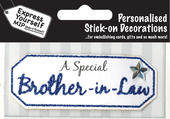Blue Brother-In-Law DIY Greeting Card Toppers