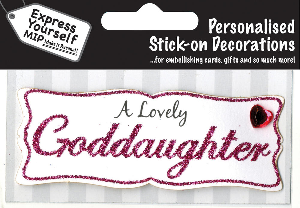 Pink Goddaughter DIY Greeting Card Toppers