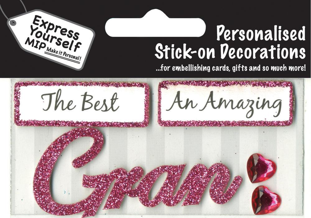 Pink Gran DIY Greeting Card Toppers