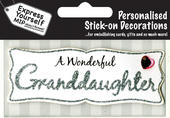 Silver Granddaughter DIY Greeting Card Toppers