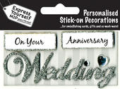 Silver Wedding Anniversary DIY Greeting Card Toppers